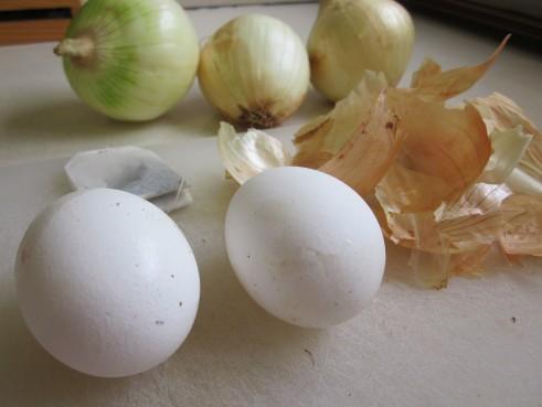 ביצים, בצל ותה